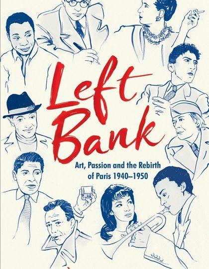 Vad hände på Vänstra stranden i Paris bland konstnärer och intellektuella under åren 1940-1950?