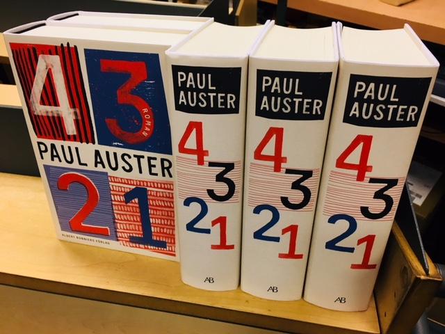 Paul Austers senaste roman 4321 – nu på svenska!