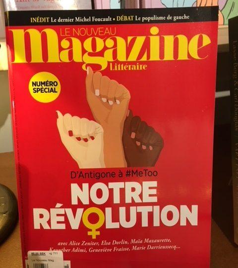 Nya numret av Le Nouveau Magazine Littéraire No 2 2018 ute nu