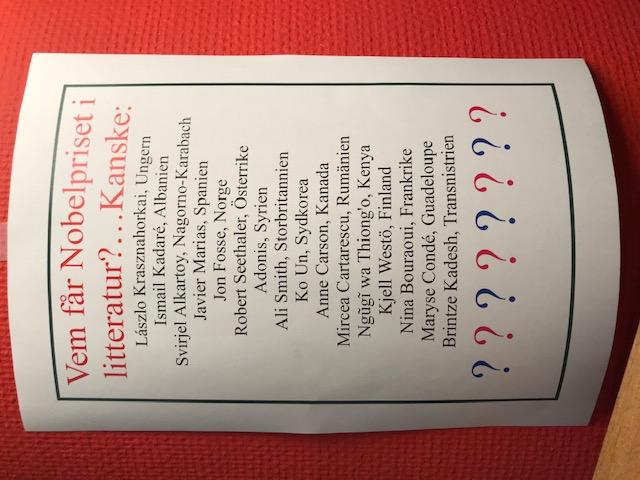 Några heta kandidater till årets Nobelpris i litteratur!